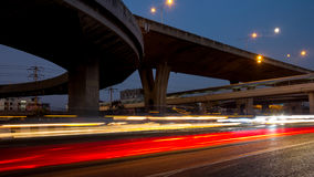 Time lapse,transport,abstract Royalty Free Stock Image