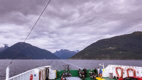 Time-lapse of transportation ferry in Norway stock footage
