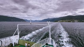 Time-lapse of transportation ferry in Norway stock video