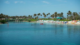 Time Lapse of Tropical Bahamas Resort Beach -  4k stock video