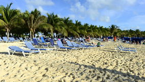 Time Lapse of Tropical Beach stock footage
