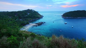 Time lapse of the tropical beach on the island of Phuket stock video