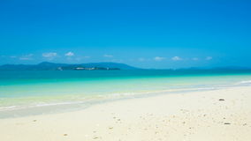 Time lapse of tropical beach Royalty Free Stock Photography
