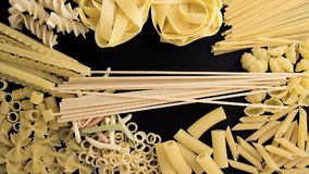 Time-lapse of uncooked pasta stock video