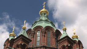 Time lapse from the Uspenski Cathedral Helsinki stock video footage