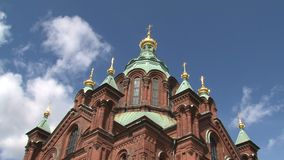 Time lapse from the Uspenski Cathedral Helsinki stock video