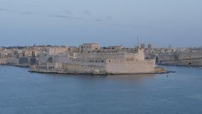 Time lapse in Valletta of Malta with many floating ships. The city of Valletta was mostly complete by the early 1570s. The entire city of Valletta has been a stock video