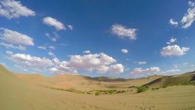 Time Lapse van de Woestijn, Dunhuang, Gansu-Provincie China stock videobeelden