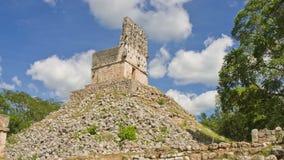 Time lapse van piramide in Labna Yucatan, Mexico stock videobeelden