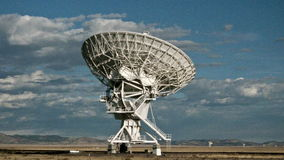 Time Lapse of the Very Large Array in New Mexico stock footage