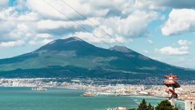 Time lapse of Vesuvius seen from Castellammare di Stabia stock video