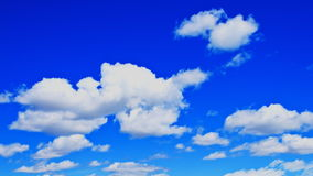 Time lapse vibrant blue sky and clouds stock video footage