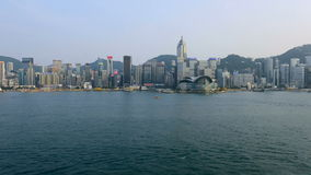 Time Lapse of Victoria Harbour and Hong Kong Skyline Daytime - Hong Kong China stock video