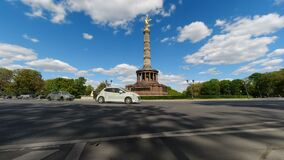 Time lapse of the Victory Column Siegessäule in Berlin