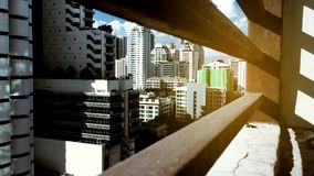 Time lapse video of Bangkok high rise building stock video