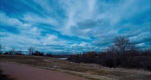 Time Lapse Video Of Clouds In A Colorado Park With A Slow Tilt Up