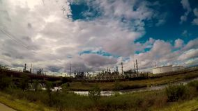 Time Lapse Video Of Clouds Showing Refineries In the Background In Denver, Colorado