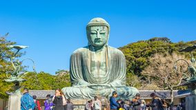 Time Lapse video of Daibutsu the Great Buddha of Kamakura in Kotokuin Temple, Japan, Timelapse 4K.  stock video