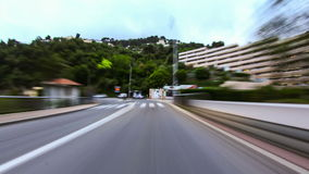 Time lapse video of driving stock footage