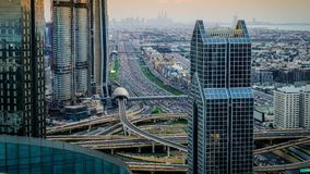 Dubai rush hour stock video