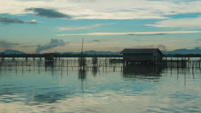 Time lapse video of Ko Yo island fisherman village, Thailand. Clip stock video footage