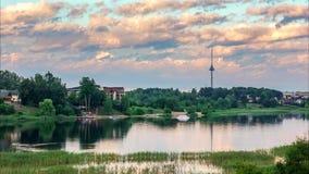 Time lapse video of lake Giluzis stock video footage