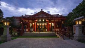 Time lapse video of Naminoue Shrine in Naha, Okinawa, Japan time lapse 4K.  stock footage