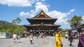 Time lapse video of people are travelling in Zenkoji Temple in Nagano, Japan timelapse 4K stock video footage