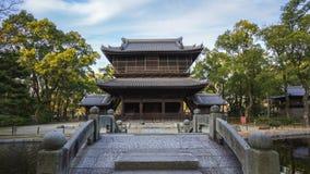 Time lapse video of Shofukuji temple in Fukuoka, Japan timelapse.  stock video footage