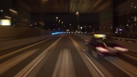 Timelapse - Hanshin expressway circle track soft focus. Time lapse video shot on the Japanese Hanshin Expressway,circle track `Loop1` line. Because there are a stock video