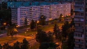 Time-lapse video of Sofiyskaya street, Saint Petersburg, Russia stock footage