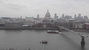 Thames River Time Lapse stock footage