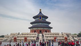 Time lapse video of tourist in Temple of Heaven in Beijing city, China, timelapse.  stock video footage