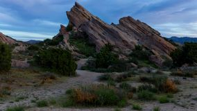 Time Lapse Video of Vasquez Rocks at Sunset stock footage