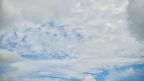 Time lapse Video of white cloud moving on blue sky in the afternoon.  stock footage
