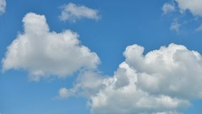 Time lapse Video of white cloud moving on blue sky in the afternoon.  stock video