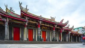 Time Lapse video of Xingtian Temple in Taipei, Taiwan timelapse stock video