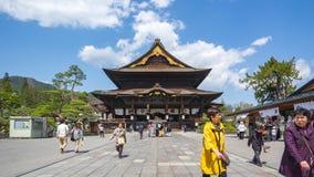 Time Lapse video of Zenkoji Temple in Nagano Prefecture, Japan timelapse 4K.  stock footage