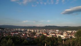 Time lapse view over Ramnicu Valcea, a city in Romania stock video