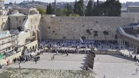 Time-lapse of wailing wall stock video footage