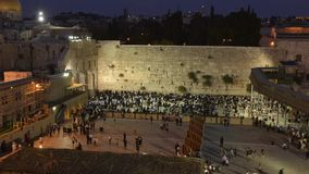Time-lapse of wailing wall by sunset