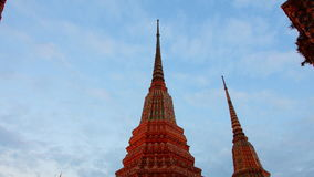 Time lapse Wat Pho temple thailand timelapse stock video