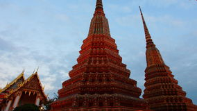 Time lapse Wat Pho temple thailand timelapse stock video footage