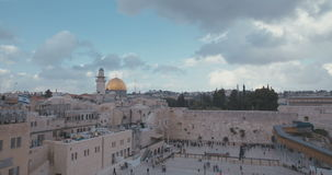 Time lapse of the western wall stock video