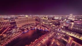 Time lapse wide Las Vegas night landscape stock video