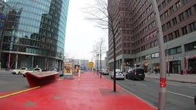 Time Lapsegang aan Potsdamer Platz in Berlijn, Duitsland stock videobeelden