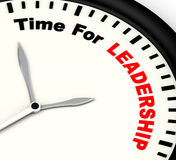 Time For Leadership Message Meaning Management And Achievement Royalty Free Stock Images