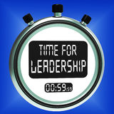 Time For Leadership Message Means Management And Achievement Royalty Free Stock Photography