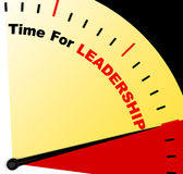 Time For Leadership Message Representing Management And Achievem Royalty Free Stock Photography