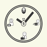 Time of life, icons Stock Photos